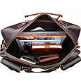 Дорожная сумка из натуральной кожи TIDING BAG 7028B, фото 5