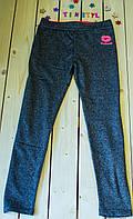 Модные   с яркой надписью  лосины  для девочки  рост 134-146, фото 1