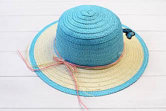 Шляпа детская Макади голубая