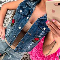 Женский модный джинсовый жилет