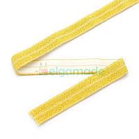 Тесьма эластичная для повязок, ЗОЛОТИСТАЯ, 15 мм