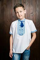 Качестнная подростковая вышиванка классического пошива на короткий рукав