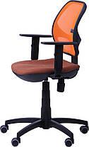 Крісло Квант Action, сидіння Квадро-70, спинка помаранчева Сітка (AMF-ТМ), фото 2
