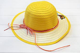 Шляпа детская Макади желтая