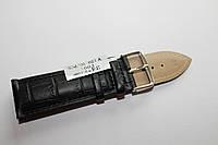 Кожаный ремень для часов AONO-ремень для часов 24 мм черного цвета