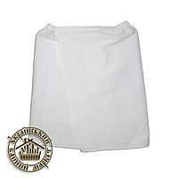 Парео вафельное белое мужское (45 см * 130 см)