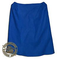 Парео льняное для бани и сауны (135*70 см), синее