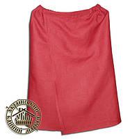Парео льняное для бани и сауны (135*70 см), красное