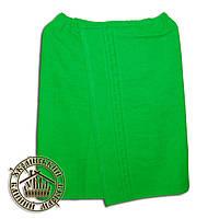 Парео банное махровое (140*70см) зеленое