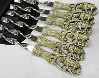 """Шампуры ручной работы """"Дикий кабанчик"""" в чехле из ткани (набор шампуров  6шт)"""