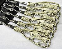 """Шампура ручной работы """"Лоси"""" в чехле из ткани (набор шампуров  6шт)"""