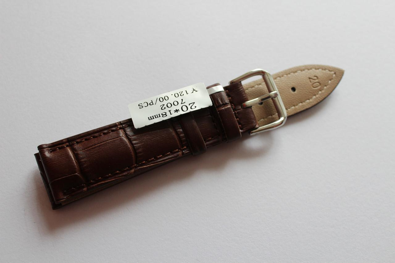 Кожаный ремень для часов AONO-ремень для часов 24 мм коричневого цвета
