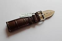 Кожаный ремень для часов AONO-ремень для часов 22 мм коричневого цвета