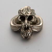Бусина на темляк Череп № 3 (бронза, черненая бронза, мельхиор)