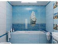 Панно Корабль - кафель в ванную,  плитка 20х30см.