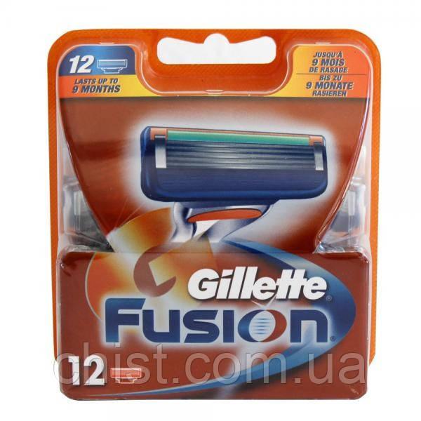 Gillette Fusion cменные кассеты (12шт)