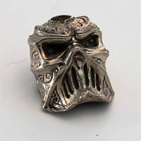 Бусина на темляк Череп № 2 (бронза, черненая бронза, мельхиор)