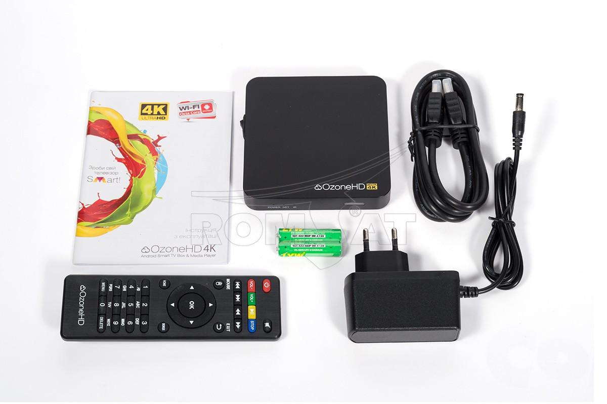 Приставка ТВ на Android - SMART TV OzoneHD 4K Pro
