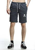 Трикотажные темно-серые (антрацит) мужские шорты Ястребь, фото 1