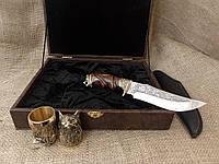 Набор охотничьих чарок, 2шт. с ножом