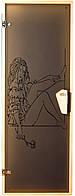 """Двери для бани и сауны (модель """"Woman"""") 678х1880, 8мм стекло"""