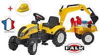 Детский педальный трактор с прицепом Falk 2055CM