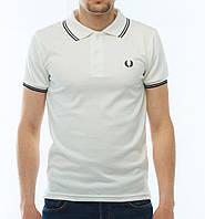 Белая мужская футболка POLO Fred Perry есть опт, фото 1