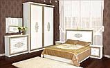 """Двоспальне ліжко """"Софія"""" біла чорна, фото 2"""
