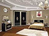 """Двоспальне ліжко """"Софія"""" біла чорна, фото 3"""