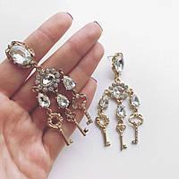 Серьги женские Dolce Key серебро, женские сережки
