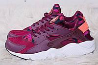 Женские кроссовки Nike Huarache bordeaux femme  (найк хуарачи,  реплика) (реплика)