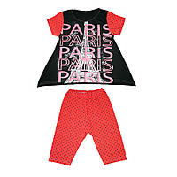 Комплект туника и бриджи Париж для девочек