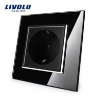 Розетка Livolo VL-C7C1EU-12, черный цвет