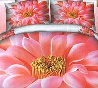 Комплект постельного белья евро размер Хризантема , постельное белье