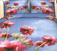Комплект постельного белья евро размер Небесные Цветы  ,  постельное белье