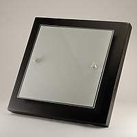 Квадратный накладной потолочный светильник для кухни венге 4*60Вт Vesta Light 29702