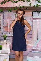 Льняной женский темно-синий сарафан Тамила  Arizzo 44-52 размеры