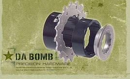 Звезды задн. Da Bomb 9 TO 1, 16T+18Т, 2 проставочн. втулки, зажимн. кольцо, черн.
