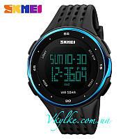 Спортивные часы SKMEI 1219 черные с синим