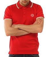Красная мужская футболка POLO Stone Island поло есть опт, фото 1