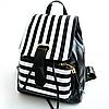 Женский рюкзак с модными полосками, фото 3