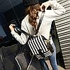 Женский рюкзак с модными полосками, фото 2