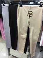 Брюки лоссины эко кожа серые Paparazzi Fashion