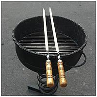 Шампур плоский с деревянной ручкой (3мм, 75см)
