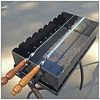 Шампур плоский с деревянной ручкой (3мм, 70см)