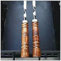 """Шампур плоский с деревянной ручкой """"Бочонок, шоколад"""" (3мм, 55см, 1шт)"""