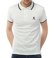 Белая мужская футболка POLO Ястребь поло есть опт