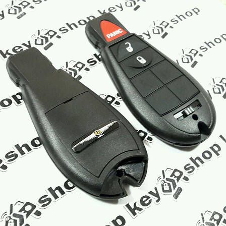 Корпус смарт ключа Chrysler (Крайслер) 2 кнопки + 1 (panic), фото 2