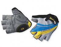 Перчатки EXUSTAR CG130 серо-желто-синие, гель, S