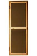 """Двери для бани и сауны (модель """"Браво-Sateen"""") 678х1880, 4мм стекло"""